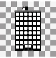 black building icon vector image