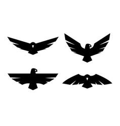 eagle a set of monochrome logos vector image vector image