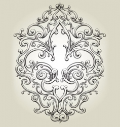 fancy fleur de lies frame vector image