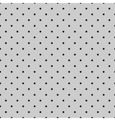 Tile black polka dots on grey background vector image