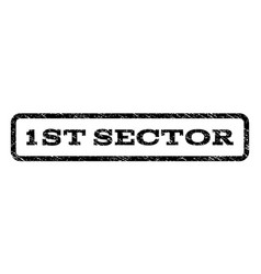 1st sector watermark stamp vector