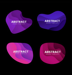 Abstract badge design set vector
