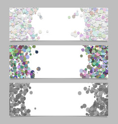 Abstract banner template set with colored dots vector