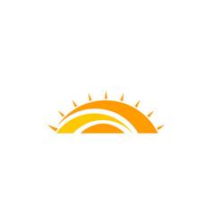 abstract creative sun logo design vector image