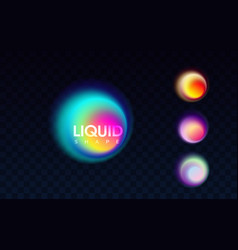 abstract liquid colorful banner vector image