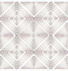 Abstract oriental square ornament arabic vector