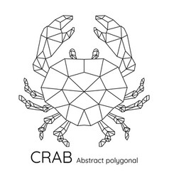 Abstract polygonal geometric crab vector