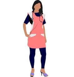 al 0336 nurse 01 vector image vector image