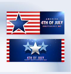 american independence day banners vector image