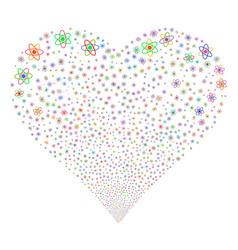 Atom fireworks heart vector