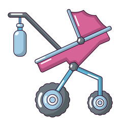 Baby carriage classy icon cartoon style vector