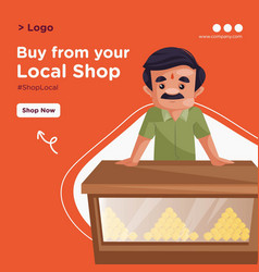 banner design indian confectioner vector image
