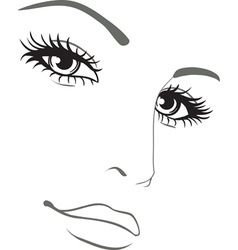 beautiful woman face portrait vector image