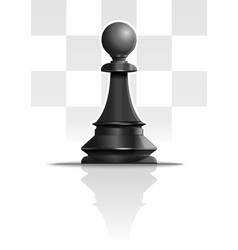 Black chess figure pawn realistic icon vector