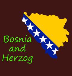 Bosnia and herzegovina political map with capital vector