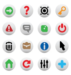 Buttons for interface vector image