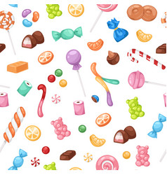 Candy confectionery and sweets seamless pattern vector