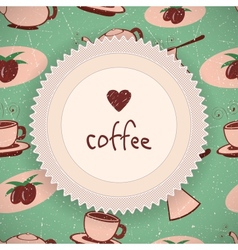 Coffee background in retro style vector image