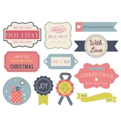 Collection of christmas ornaments and decorative vector