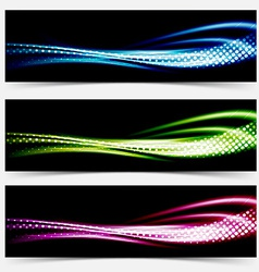 Collection speed flow abstract swoosh futuristic vector
