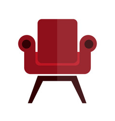 Comfortable soft and stylish red armchair vector