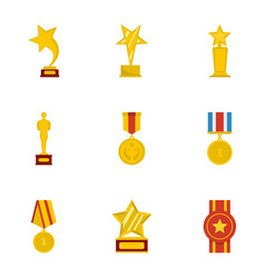 Commend icons set cartoon style vector