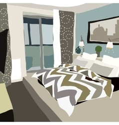 Contemporary interior doodle vector
