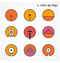 Creative A letters icon abstract logo design vector image vector image