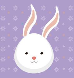 cute rabbit head tender character vector image