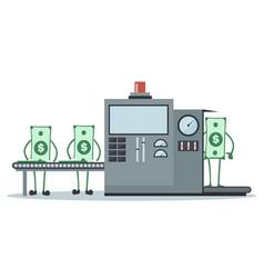 design of money production line vector image