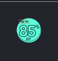 Discount up to 85 off label template design vector