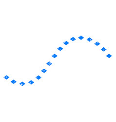 dotted function line grunge icon vector image