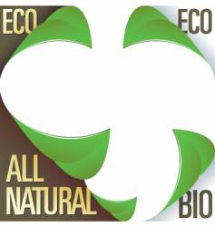 eco bio and natural labels vector image vector image