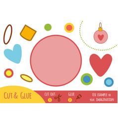 education paper game for children christmas ball vector image
