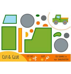 education paper game for children pickup vector image