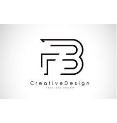 Fb f b letter logo design in black colors vector