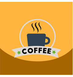 Flat icon design collection cup of hot coffee vector