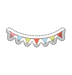 garland party hanging icon vector image