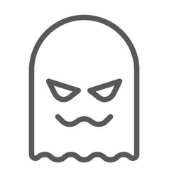 ghost line icon horror and character horror sign vector image