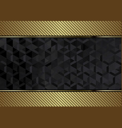 golden and black geometric background vector image