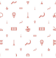 Grass icons pattern seamless white background vector