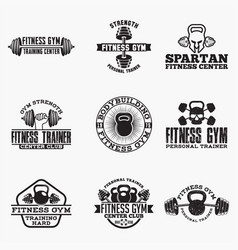 gym logo badge vector image