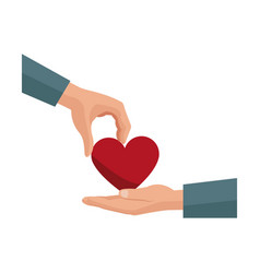 hand giving heart love symbol vector image