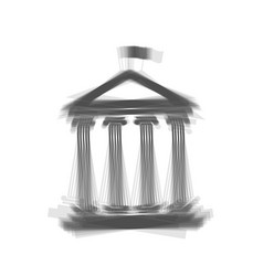 Historical building with flag gray icon vector