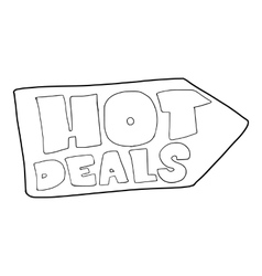 Hot deals direction sign icon outline style vector image