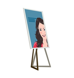 icon notice board vector image