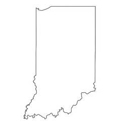 indiana in state border usa map outline vector image