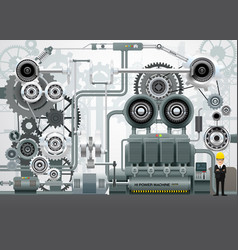 Industrial machinery factory engineering vector