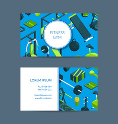 isometric gym card vector image