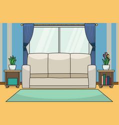 living room background children book vector image